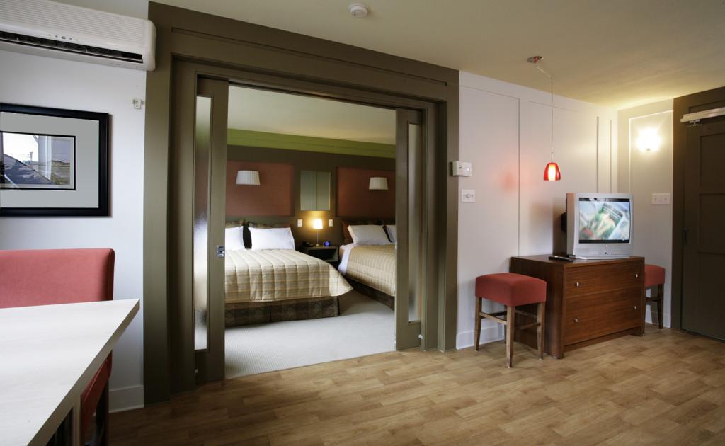Chambre du Motel le Mirage, è Pointe-au-Pic, dans Charlevoix