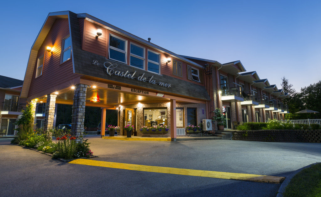 The Castel de la Mer Motel in La Malbaie, Charlevoix